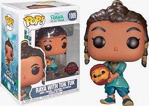 Boneco Funko Pop Raya With Tuk Tuk #1005 - Disney