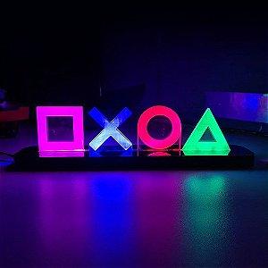 Luminária De Mesa De Led Sony Playstation Ps4 Símbolos