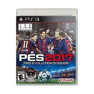 Jogo Pro Evolution Soccer 2017 (PES 2017) - PS3
