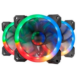 Cooler FAN Redragon GC-F007 x3 RGB 12cm Com Controle