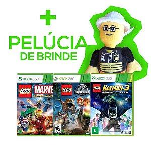 Marvel Lego + Batman Lego 3 + Jurassic World Lego + Brinde