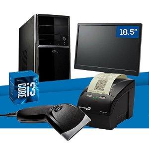 "Kit PC Empresarial NTC Intel i3 + Monitor 18.5"" + Leitor Código de Barras + Impressora Fiscal"
