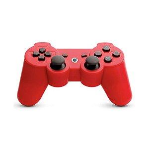 Controle Bluetooth Dazz Vermelho - PS3