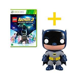 Jogo LEGO Batman 3 Xbox 360 + Boneco Funko Batman