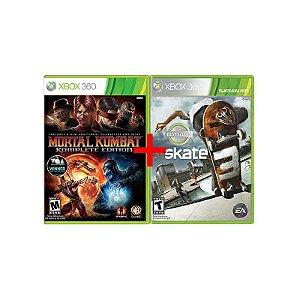 Jogos Mortal Kombat: Komplete Edition + Skate 3 - Xbox 360