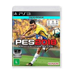 Jogo Pro Evolution Soccer 2018 (PES 2018) Edição Premium - PS3