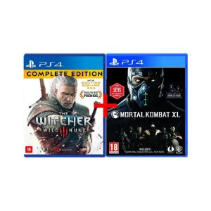 Jogos The Witcher 3: Wild Hunt (Complete Edition) + Mortal Kombat XL - PS4