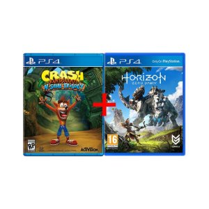 Jogos Crash Bandicoot N.sane Trilogy + Horizon: Zero Dawn - PS4