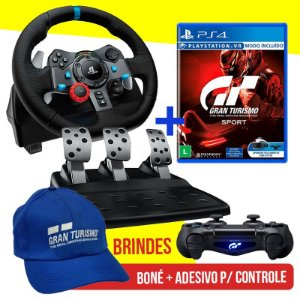 Volante Logitech Driving Force G29 PS4, PS3 E PC + Jogo Gran Turismo Sport - PS4 + Brindes