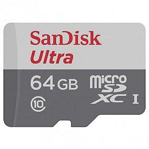Cartão Micro SD Ultra Classe 10 64GB com adaptador - Sandisk