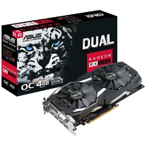 Placa de Vídeo Asus AMD Radeon RX 580 OC 4GB, GDDR5 - DUAL-RX580-O4GB