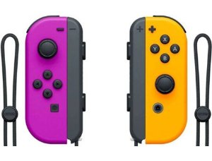 Controle Joy Con Nintendo Switch Par Roxo e Laranja - Nintendo