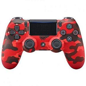 Controle Dualshock 4 PS4 Camuflado Vermelho - Sony