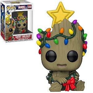 Boneco Funko Marvel #530 - Groot (Holiday)