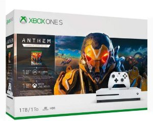Console Microsoft Xbox One S 1TB Branco (Anthem)