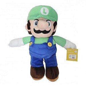 Pelúcia Turma Mario Bros LUIGI (30cm)