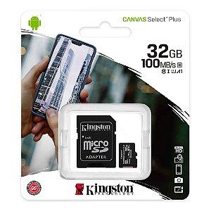 Cartão de Memória Sandisk 128gb Micro Sd CI10 100mb/s Canvas Select Plus