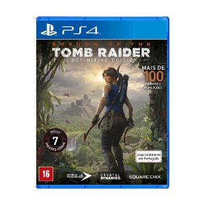 Jogo Shadow of the Tomb Raider Definitive Edition - PS4