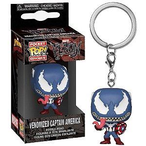 Chaveiro Pocket Pop - Venomized Captain America
