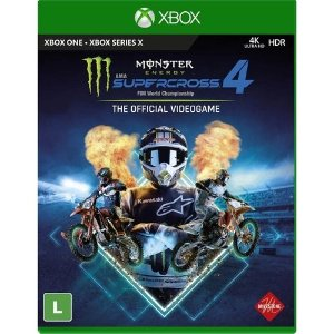 Jogo Monster Energy Supercross 4 - Xbox One - Xbox Series X