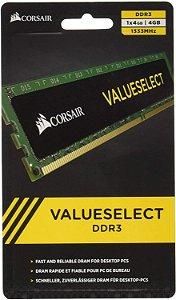 Memória Corsair Valueselect DDR3 1x8GB 1333MHZ - Corsair