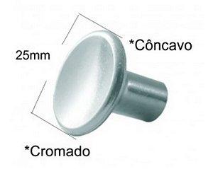 Puxador de Porta  Armário Botão Côncavo Aliança kit com 4 peças Com Parafusos