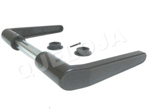 Maçanetas Para Fechadura Simples de Porta Madeira Ferro Metal Casa Residência Stam Ref. 03 Cor Preto Fosco Grafite escuro