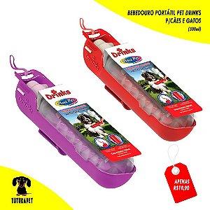 Bebedouro Portátil Pet Drinks - 500ml - Plast Pet