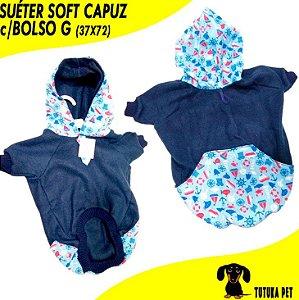Suéter Pet Soft Capuz c/Bolso - ClubPet
