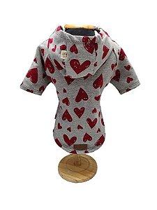 Blusa Moleton Coração Fabrica Pet