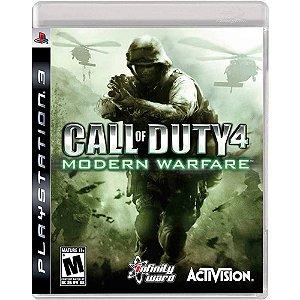 JOGO PS3 - CALL OF DUTY 4: Modern Warfare (USADO)