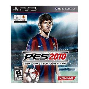JOGO PS3 - PRO EVOLUTION SOCCER - PES 2010 (USADO)