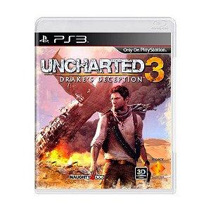JOGO PS3 - UNCHARTED 3 DRAKE'S DECEPTION (USADO)