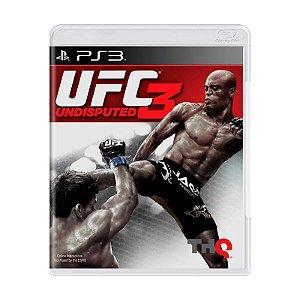JOGO PS3 - UFC UNDISPUTED 3 (USADO)