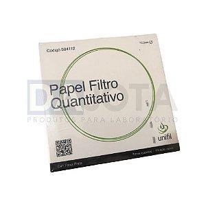 Papel Filtro Quantitativo 125mm, C41 (Faixa Preta), Pct 100 - Marca Unifil