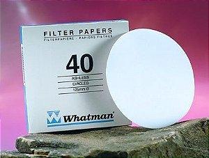 Papel Filtro Nº40 150 Mm - Whatman Ref. 1440-150 Cx. 100 Un.
