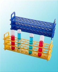 rack plastico para tubo de ensaio de 16 mm diametro 31 lugares  pk/1 abdos P20708 - suporte para tubo de 16 mm com 31 lugares