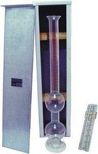 Frasco de chapman em vidro borossilicato graduado