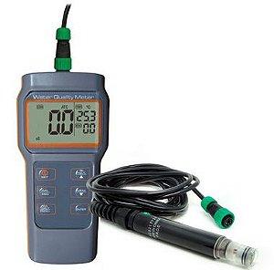 Medidor Multiparâmetro à prova d'água + Sonda de Oxigênio Dissolvido