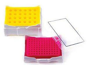 rack plastico para microtubo para manter temperatura
