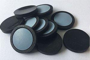 Septo 20x 3 mm PTFE Faceado silicone Cinza e Preto, pct c/ 100und