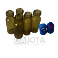 Vials 32 x 11,6 mm  - Tampa Roscada Azul de Silicone/PTFE  Marca VWR cx com 100 unid