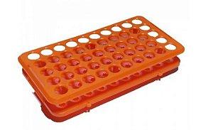 rack para microtubos em polipropileno com acomodacao para até 50 tubos 1ml ate 5 ml nao autoclavavel