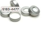 Cap, crimp, headspace, aluminum, PTFE/silicone septa, 20 mm, 100/pk. Cap size: 20 mm Agilent 5183-4477