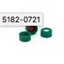 Cap, screw, green, PTFE/white silicone septa, 100/pk. Cap size: 12 mm  agilent 5182-0721