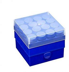 BOX POLIPROPILENO PARA TUDO DE CENTRIFUGA DE 15 ML PARA TEMPERATURA DE -90C ATÉ +120 MARCA ABDOS P20604 PK 1