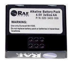 ALKALINE BATTERY PACK 4,5V 3XSIZE AA MARCA RAE COD 020-3403-000 PK 1