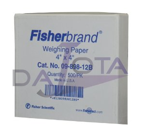 "WEIGHING PAPER 4X4"" FISHER ref. 09-898-12B CX 500 un."