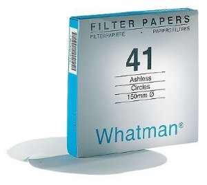 PAPEL FILTRO Nº42 185 mm - WHATMAN ref. 1442-185 CX. 100 un. - FILTER PAPER