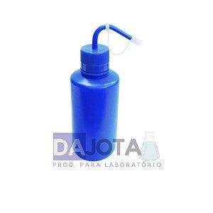 Pisseta em Polietileno Azul